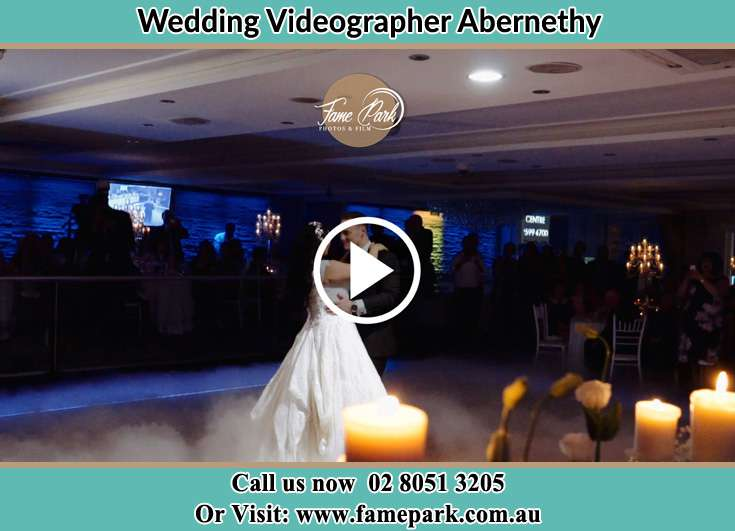 The newlyweds dancing on the dance floor Abernethy NSW 2325
