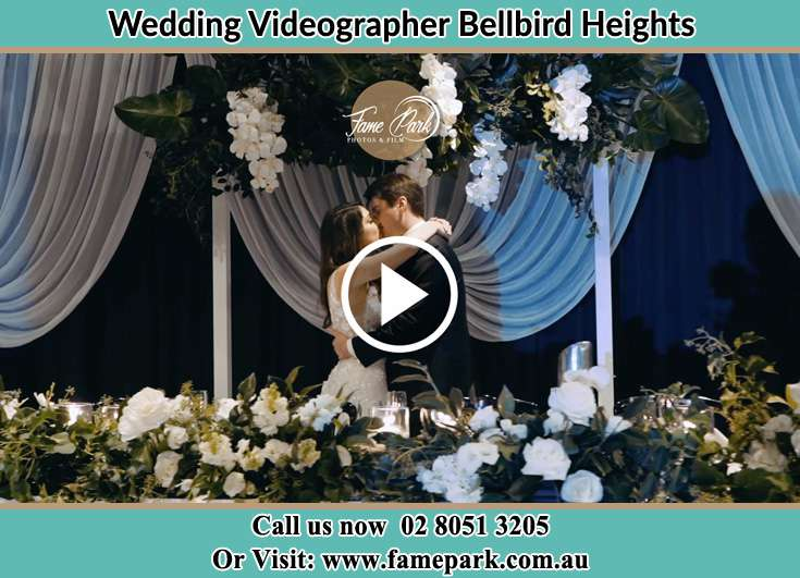 The newlyweds kissing Bellbird Heights NSW 2325