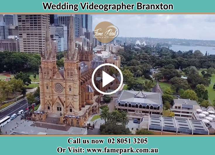 Aerial view of the wedding venue Branxton NSW 2335