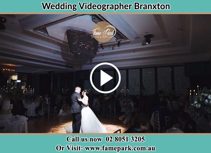 The newlyweds dancing on the dance floor Branxton NSW 2335