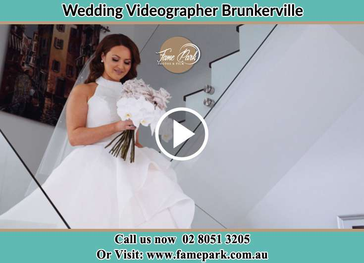 The Bride walking downstairs Brunkerville NSW 2323
