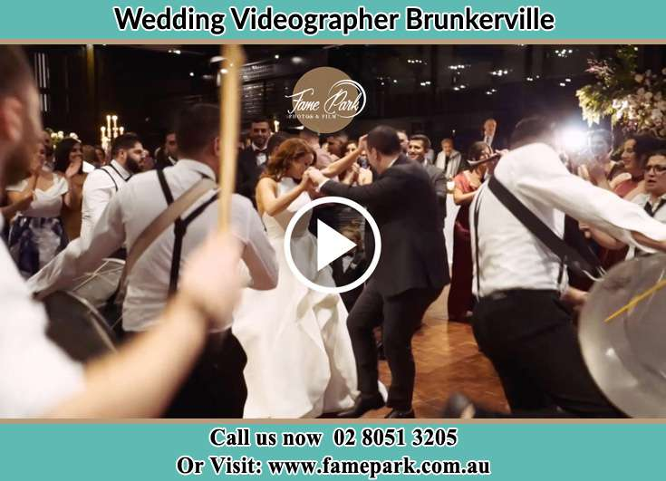 The new couple dancing on the dance floor with the band Brunkerville NSW 2323