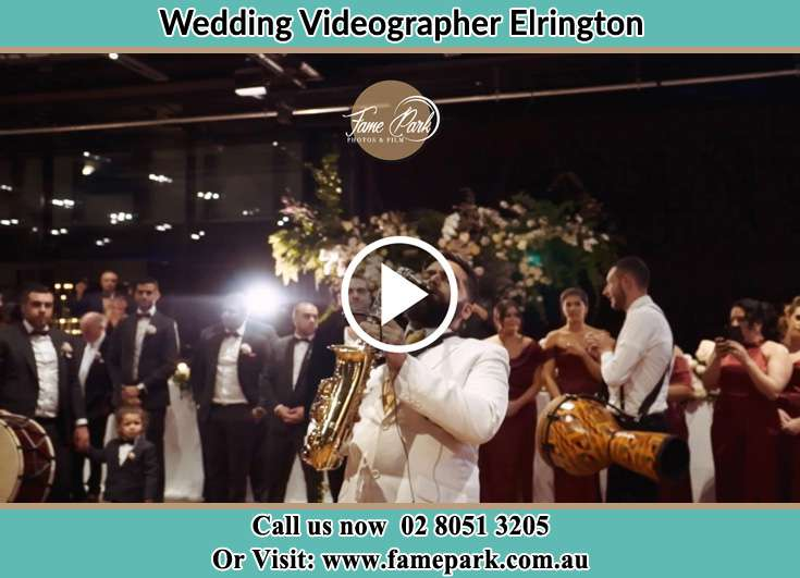 The Groom playing the sax Elrington NSW 2325