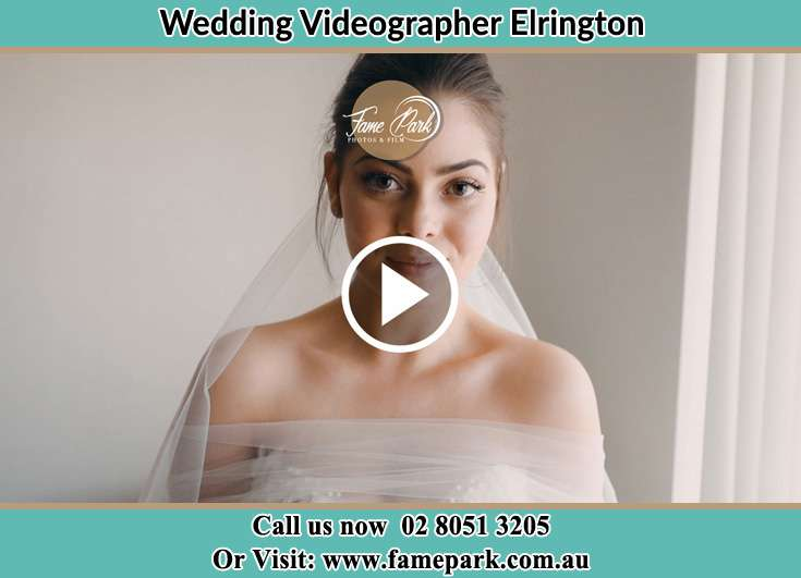 The Bride smiles for the camera Elrington NSW 2325