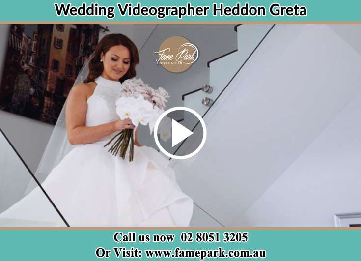 The Bride walking downstairs Heddon Greta NSW 2321