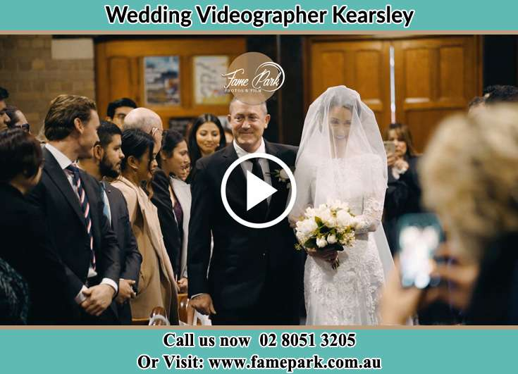 The Bride walking down the aisle with her father Kearsley NSW 2325