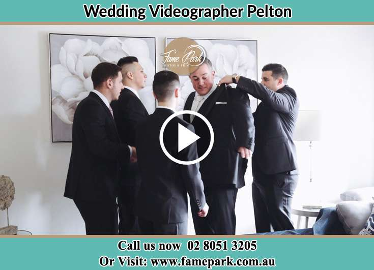The boys helping the Groom to get ready for the wedding Pelton NSW 2325