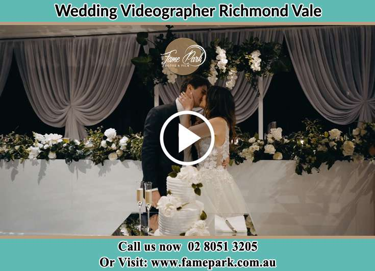 The newlyweds kissing Richmond Vale NSW 2323