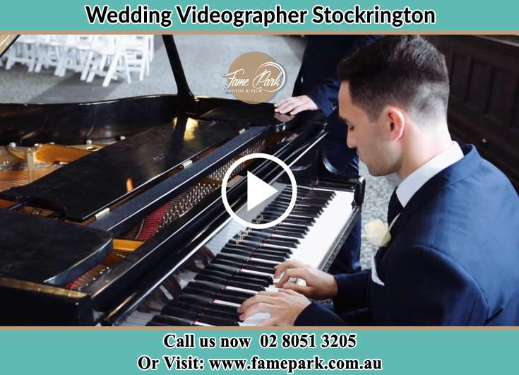The Groom playing the piano Stockrington NSW 2322
