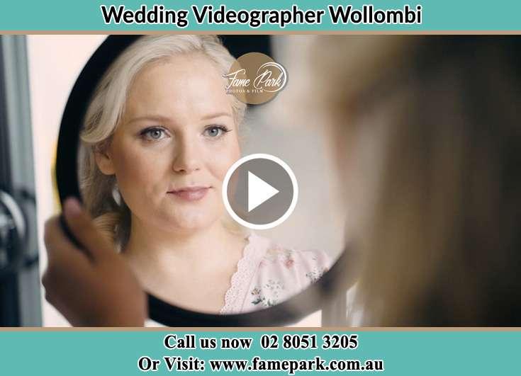 The Bride looking at the mirror Wollombi NSW 2325